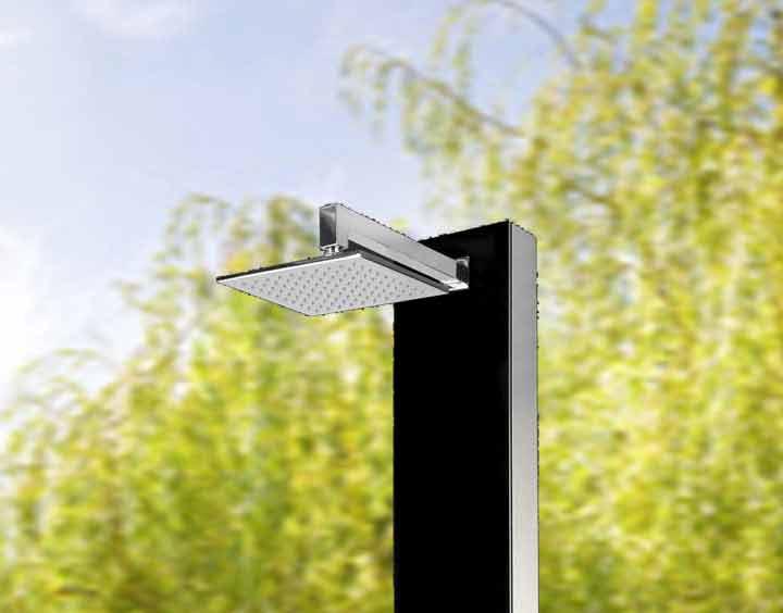 Dusche Garten Warmwasser : Glasdusche Kuba Warmwasser erfrischt auch mit kaltem Wasser.