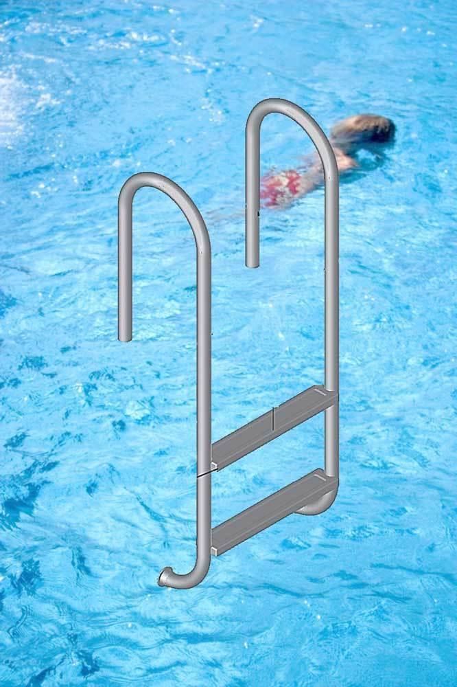 poolleiter tina edelstahl f r schwimmbecken mit senkrechter wand. Black Bedroom Furniture Sets. Home Design Ideas