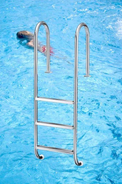 poolleiter tina edelstahl f r schwimmbecken mit. Black Bedroom Furniture Sets. Home Design Ideas