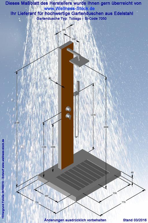 Dusche Garten Warmwasser : Garten Dusche Tobago zum Duschen mit Kalt- und Warmwasser.