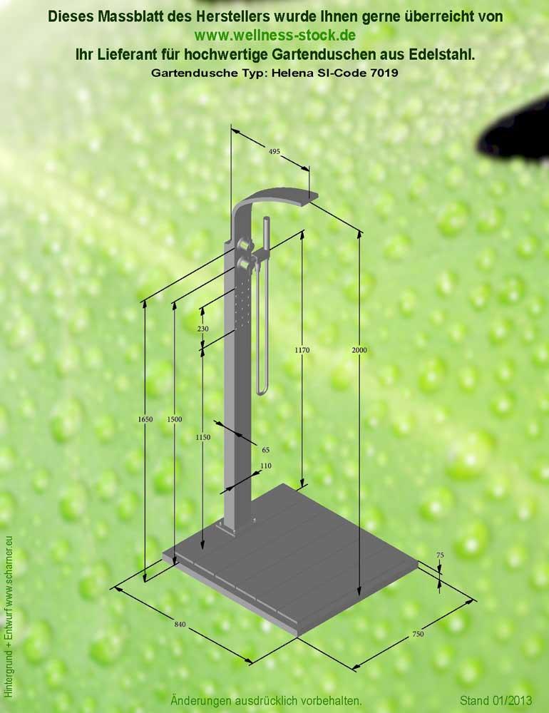 Gartendusche helena kalt und warmwasser zum duschen im for Gartendusche mit warmwasser